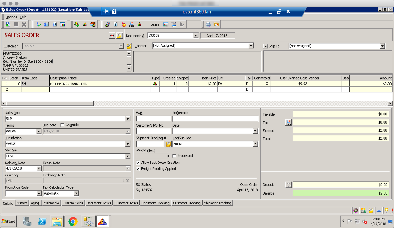 Everest ERP Software and PayPal Payflow Pro TLS1 2 Credit